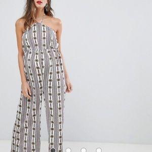 ASOS print maternity jumpsuit size 8-10